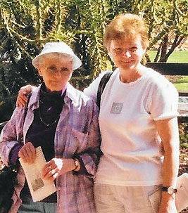 Hilda Rendl and her mother
